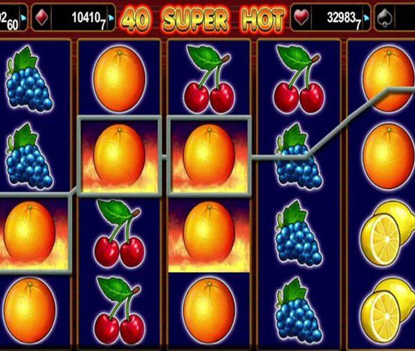Игровой автомат 40 Супер Хот − настоящее фруктовое безумие